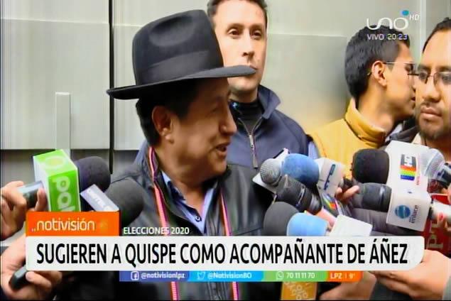 Indígenas originarios sugieren al tata Quispe como acompañante de Jeanine Áñez