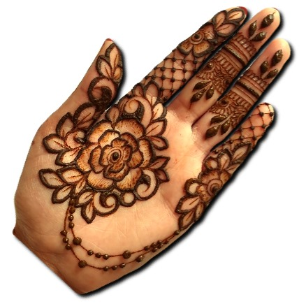 Easy Big Flower Mehndi Design