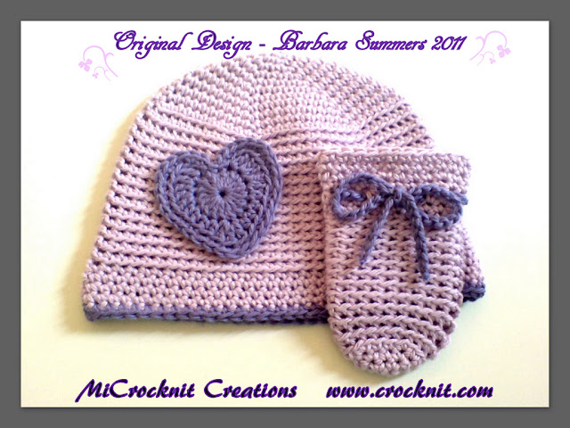crochet patterns newborn hat mittens baby toddler