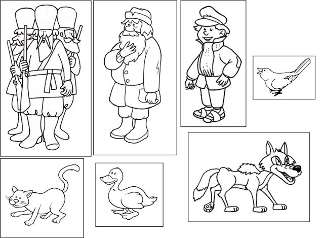 For the love of preschool mini theme peter and the wolf for Peter and the wolf coloring pages free