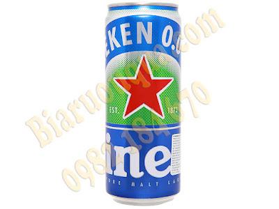 Hình ảnh bia lon Heineken 0.0 độ cồn