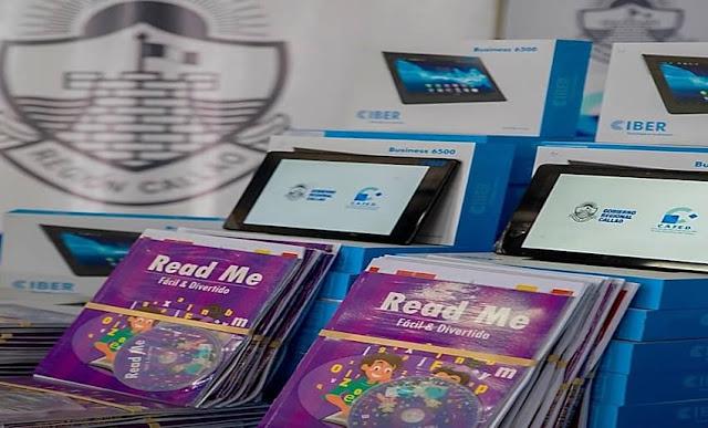 Entregan 1327 tablets y kits educativos a escolares del Callao