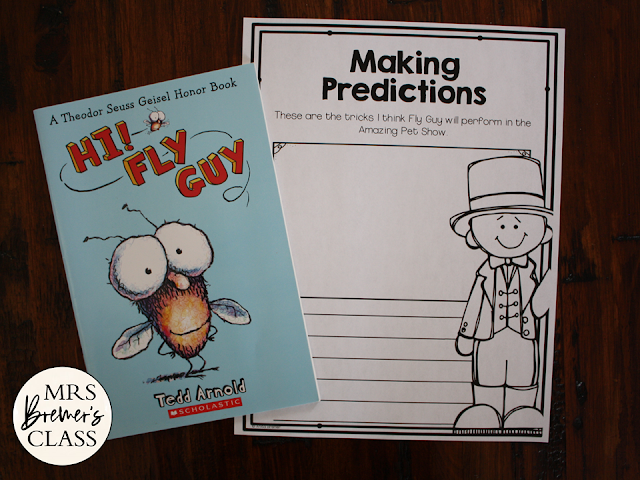 Hi Fly Guy book study literacy unit Common Core companion activities for 1st and 2nd grades