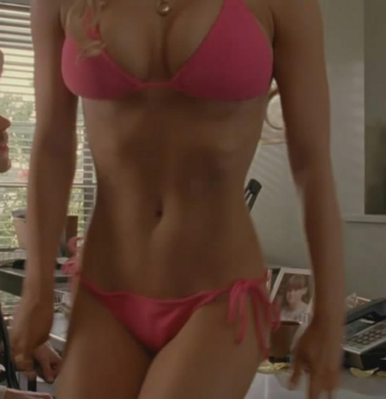 Jessica simpson dukes of hazzard pink bikini