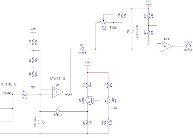 PIR sensor schematic - stage 3
