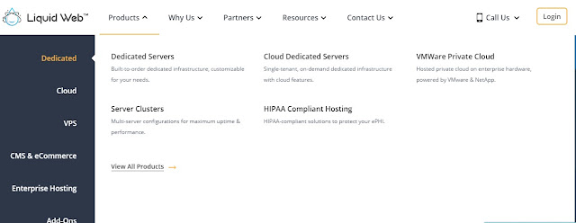 Liquid web dedicated, VPS, and other hosting plans