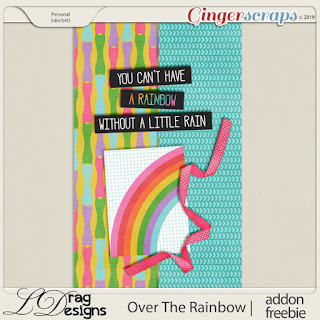 Creative Team, Annemarie, for GingerScraps –– LDrag Designs -  Over The Rainbow by LDragDesigns  and Coordinating Freebie