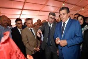 الوزير اخنوش يشرف على إختتام فعاليات المعرض الوطني للحبوب والقطاني ببرشيد و عدد الزوار بلغ 50 ألف