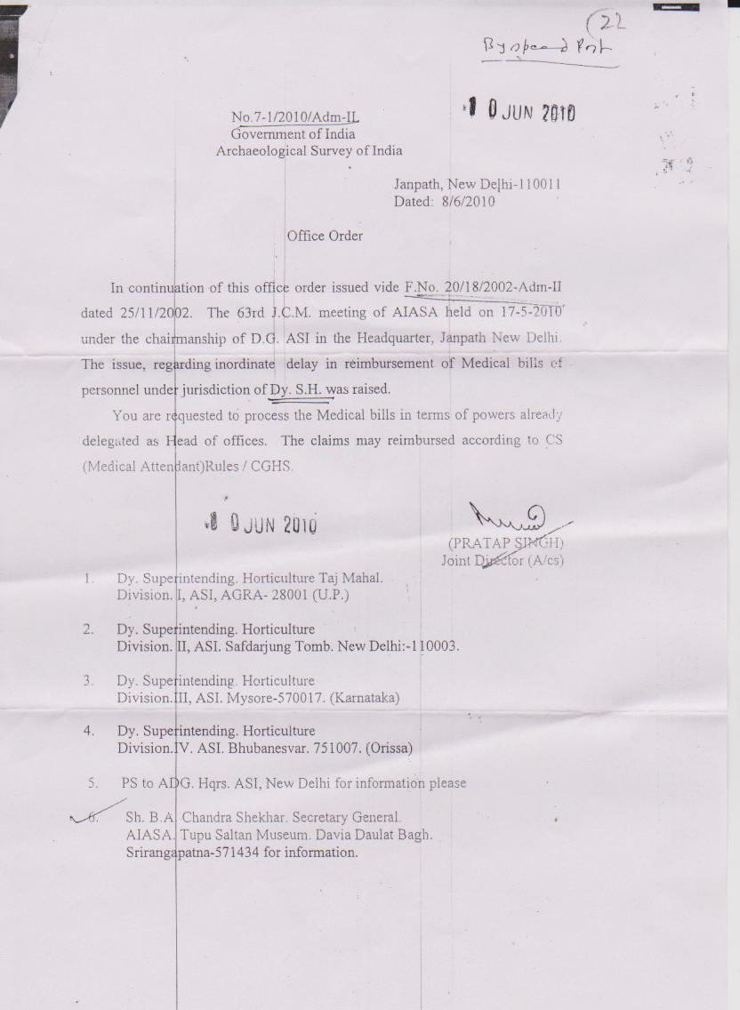 All India Archaeological Service Association. (Regd