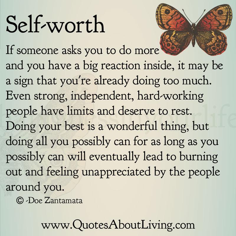 Unappreciated Quotes Love: Doe Zantamata: Self-Worth