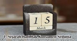 Sejarah Hari Hak Konsumen Sedunia
