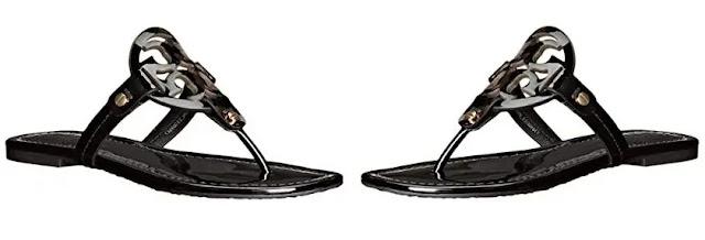 1. Tory Burch Women's Miller Patent Thong Sandal