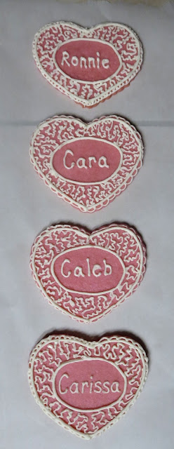 Personalized Valentine's Day Heart Sugar Cookies - My Family's Cookies