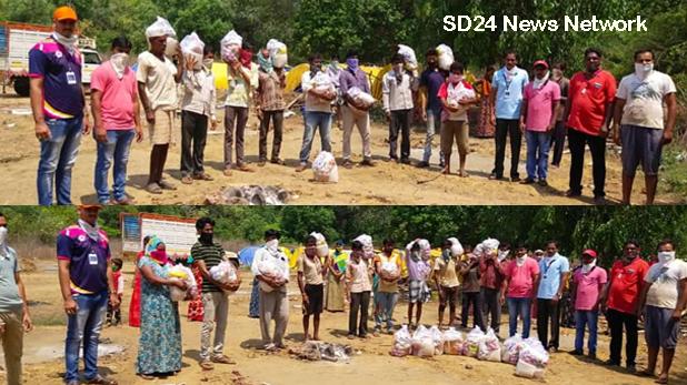 सिंधुदुर्ग : शिक्षक भारती द्वारा विभिन्न स्थानों पर मजदूरों को आवश्यक सामग्रियों का वितरण