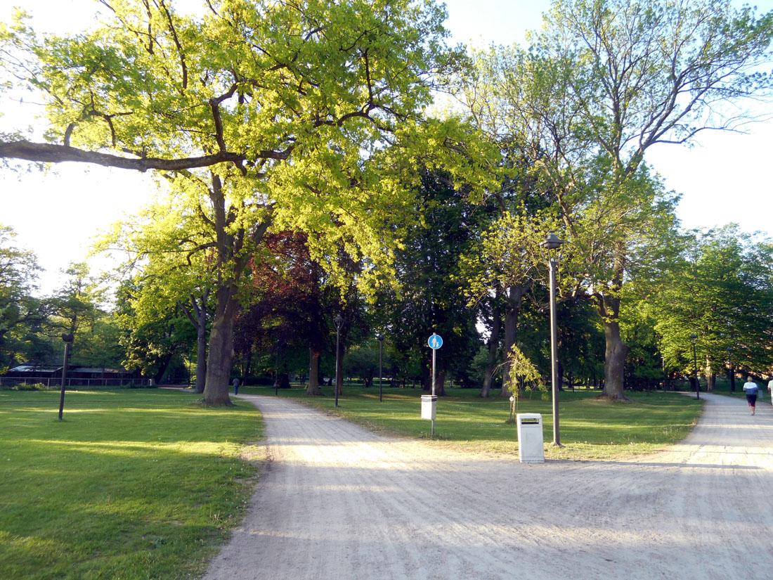 Il parco cittadino a Kristianstad