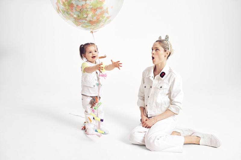 Coco Rocha poses with daughter Ioni for Gap 'Mama Said' campaign