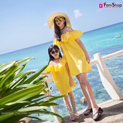 Váy maxi mẹ và bé gái M153