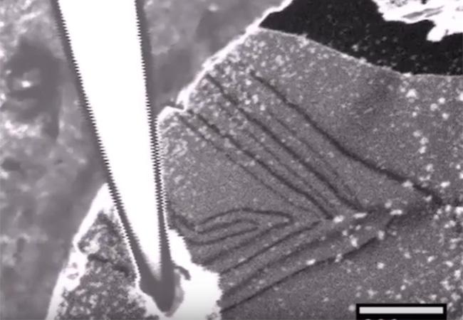 Tinuku In situ manipulation and switching in bilayer graphene