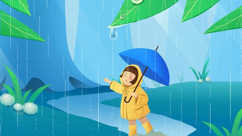 menari di bawah hujan
