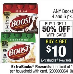 Boost Original Shakes CVS Deal $0.74 1/12-1/18