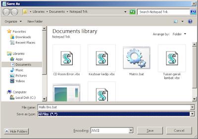 Membuat chat palsu di windows menggunakan notepad