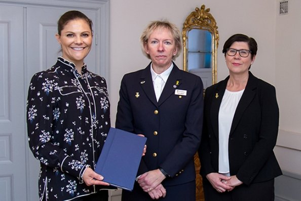 Crown Princess Victoria met with Secretary general Heléne Rådemar and National director Barbro Isaksson