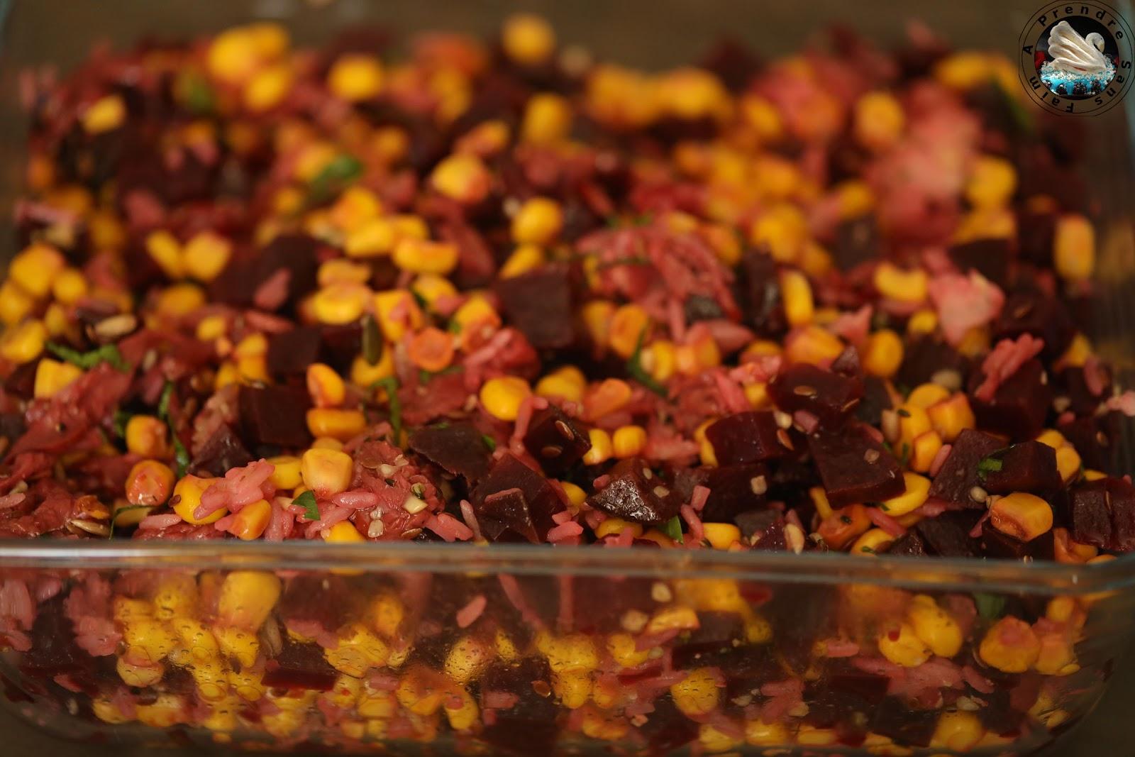 Salade de riz au magret de canard séché