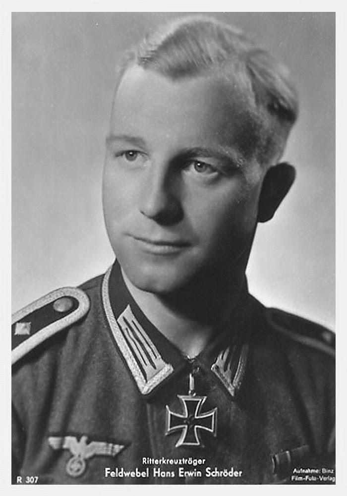 Hans erwin Schröder Ritterkreuzträger Knight Cross Holder Postcard