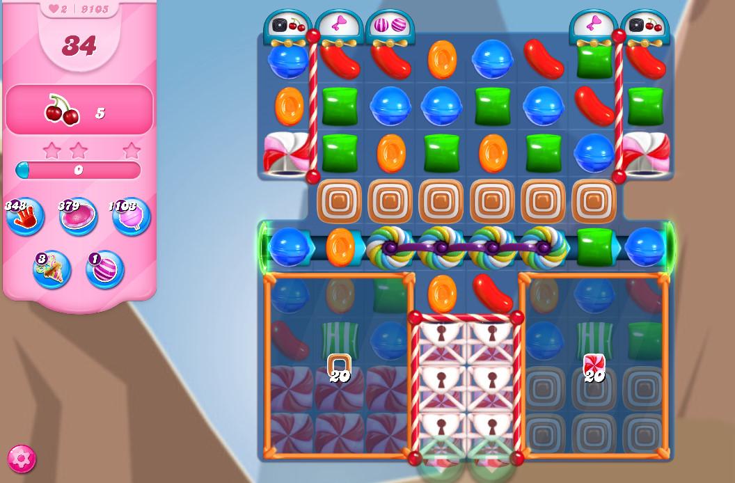 Candy Crush Saga level 9105