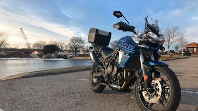 HD wallpaper Triumph Tiger Blue Motorcycle