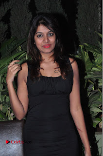 Actress Kavya Kumar Stills in Black Short Dress at F Club pre soft Launch  0003.JPG