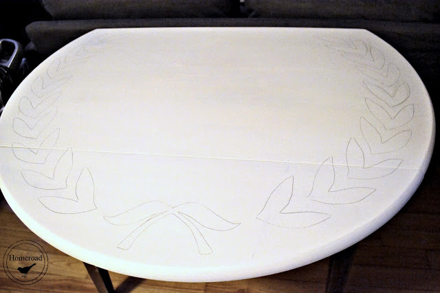 traced shapes on white table
