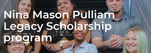 snapshot from Nina web page, featuring past scholars. Text: Nina Mason Pulliam Legacy Scholarship program