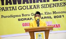 Zulkifli Zain Terpilih secara Aklamasi Pimpin DPD II Golkar Sidrap