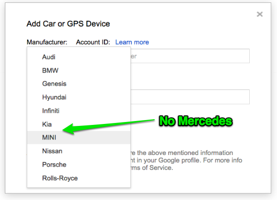 Google Maps Send To Car: Off On A Tangent: Google Maps Send To Car For Mercedes