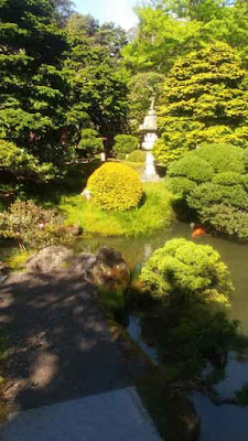 San Francisco Japanese Tea Garden - Koi Pond and Lantern
