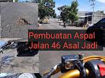 """""""Diduga Asal Jadi"""" Pengaspalan Jl 46 Bitung Terkesan Hanya Buang Uang Rakyat!!"""