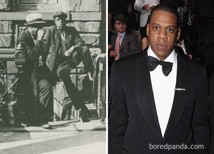 #9 This Man In Harlem In 1939 And Jay Z - 10 Celebrity Lookalikes That Prove Time Travel Exists