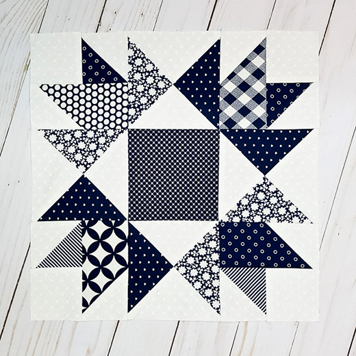 Union Square Vintage Quilt Block by Sondra of Out of the Blue Quilts