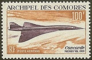 Comoro Island Concorde Supersonic Jet