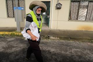 Man walking street in Puriscal.