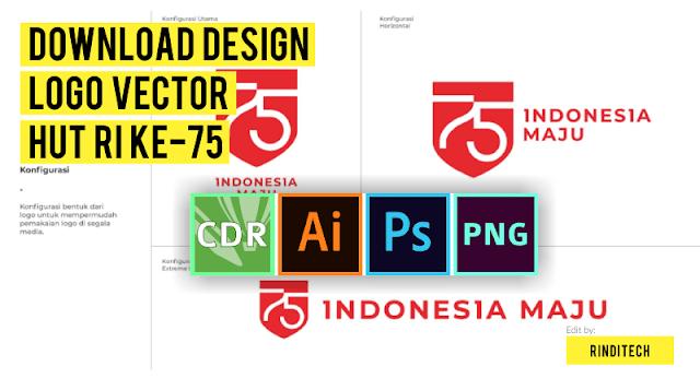 Font dan Desain Logo Vector HUT RI ke 75 Tahun 2020 (cdr eps ai psd jpg png)