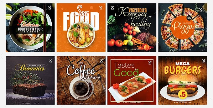 Food Instagram Post and Stories Powerpoint | Free templates download
