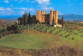 castle in siena, itlay