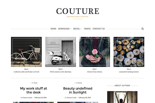 Couture Personal Premium Blogger Template Free Download