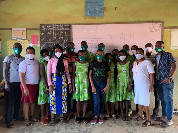 LALOC Foundation donates face masks, other items to basic schools in Tema Newtown