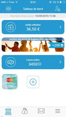 Cashcloud portefeuille électronique