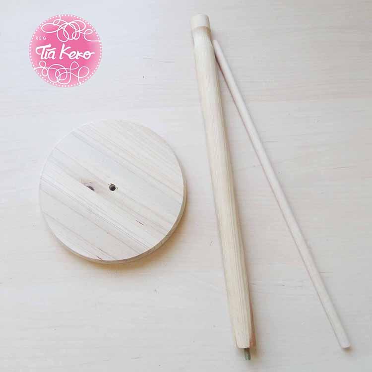 Tía Keko y manualidades con madera