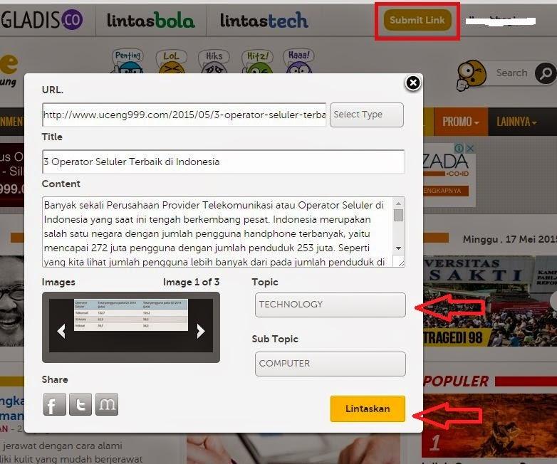 Cara Submit Artikel ke Sosial Bookmark/Sosbok Melintas.me