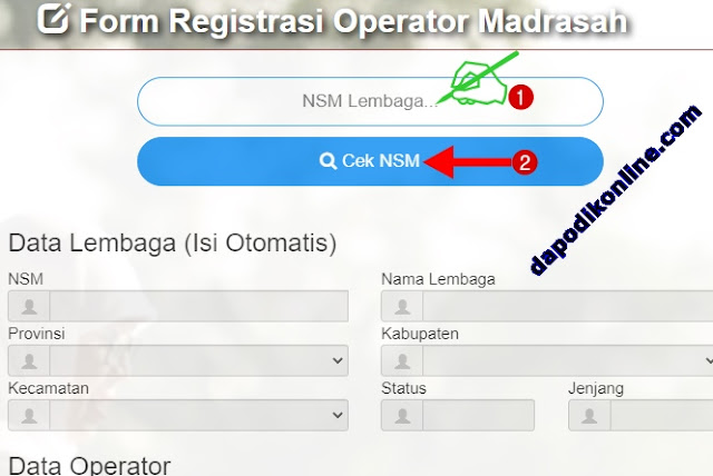 Cara Daftar Akun Emis Operator Madrasah RA-MI-MTs-MA